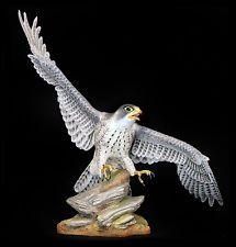Large BOEHM Porcelain Sculpture ORIGINAL Hand Painted Artwork Sign Falcon Bird