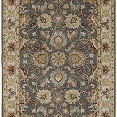Hand-tufted Coliseum Gray Traditional Border Wool Rug (7'6 x 9'6)   Overstock.com Shopping - Great Deals on 7x9 - 10x14 Rugs