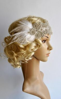 The Great flapper Headpiece, Vintage Inspired, Bridal Headpiece Rhinestone headband, Rhinestone flapper headpiece Flapper Headpiece, Gatsby Headband, Flapper Costume, Wedding Headband, Gatsby Themed Party, Gatsby Wedding, Crystal Headband, Rhinestone Headband, 1920s Hair