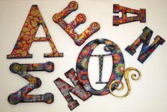 Decoupage Letters Tutorial