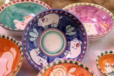 Piatti ceramiche dipinte a mano Vietri sul Mare, Campania Italy ceramics italian dishes handmade and handpainted in Italy - dinnerware