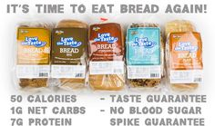 Buy low carb bread and low carb bagels at Lindas Diet Delites. We are an online low carb store dedicated to provide low calorie breads, low carb breadcrumbs, low carb buns, low carb rolls and more ideal for anyone living the low-carb lifestyle. Low Calorie Bread, Low Carb Bagels, Low Calorie Recipes, Thm Recipes, Diabetic Recipes, Healthy Recipes, Healthy Options, Healthy Eats, Healthy Foods