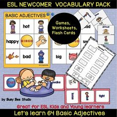 ESL resources: Basic Adjectives (opposites) Vocabulary New