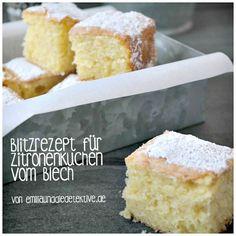 Blitzrezept für Zitronenkuchen vom Blech