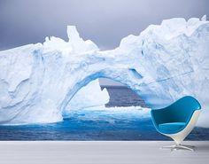 Selbstklebende Tapete - Fototapete Antarktischer #Eisberg #naturpur #nature #Tapete #Sonne #Landschaft #freedom #Natur #Abenteuer #Arktis #Ice
