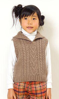 child's cabled vest