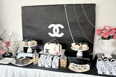 Chanel Themed 21st birthday party {Guest Feature} - Celebrations at Home