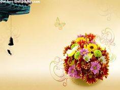 Download Basket Of Flowers Wallpaper #8954 | 3D & Digital Art Wallpapers