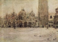 Valentin Serov (1865 –  1911) - St. Mark Plaza in Venice, 1887
