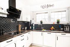 Kitchen Cabinets, Backsplash, Black, Home Decor, House, Decoration Home, Black People, Room Decor, Cabinets