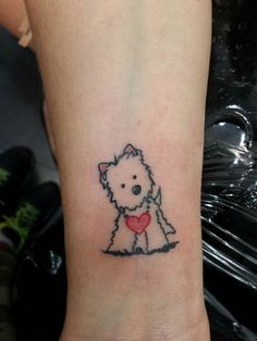 Tattoo of a KiniArt Westie. © Kim Niles, KiniArt™. If you're interested in…