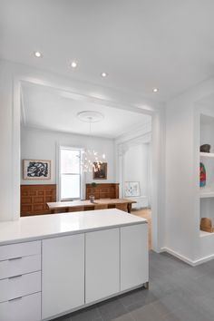 Montreal based design firm specializing in Architecture, Landscape Architecture, Urban Design and Interiors. Kitchen Designs Photos, Best Kitchen Designs, Modern Kitchen Design, Kitchen Splashback Tiles, Tile Countertops, Cottage Kitchens, Urban, Architecture, Kitchen Interior