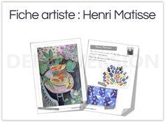 Plusieurs dizaines de fiches artistes accessibles aux plus petits ! Henri Matisse, Ecole Art, French Art, Art Plastique, Oeuvre D'art, Homeschool, Painting, Activities, Baseball Cards