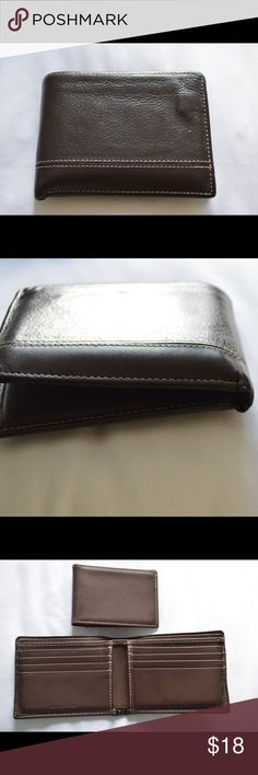 Perry Ellis Bifold Genuine Leather Wallet Preowned wallet; very special; has been taken to Japan, South Korea, France & London by previous owner; genuine leather; holds 14 cards. Perry Ellis Bags Wallets