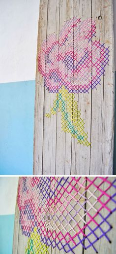 CROSS STICH on wood | REPINNED
