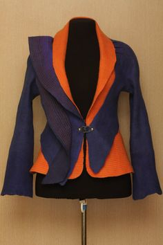 The game of contrasts / Felted Clothing Set / Jacket & door LybaV, $400.00