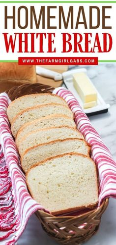 This Homemade Country White Bread makes two delicious loaves of bread. This easy bread recipe is perfect for sandwiches, toast or just a smear of butter. Best Homemade Bread Recipe, Homemade White Bread, Homemade Sandwich, Easy Bread Recipes, Baking Recipes, Yummy Recipes, Country White Bread Recipe, How Sweet Eats, How To Make Bread