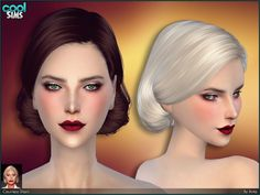 Hairdo inspired by Lady Gaga as The Countess in American Horror Story.  Found in TSR Category 'Sims 4 Female Hairstyles'