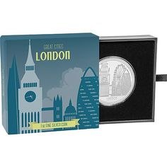 Great Cities Coin Collection - London Silver Coin by NZ Mint Coin Collecting, London City, Silver Coins, Mint, Pure Products, Collection, Silver Quarters, Peppermint