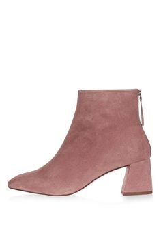 MAGGIE Suede Ankle Boots in blush $140 @ Topshop