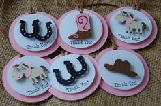 Cowgirl Theme Birthday Party Favor Tags (set of 12) - We Bring the Party - 2