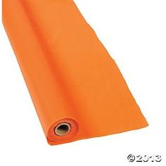 100ft 16$ Orange Tablecloth Roll - Oriental Trading only orange table cloths excerpt round???