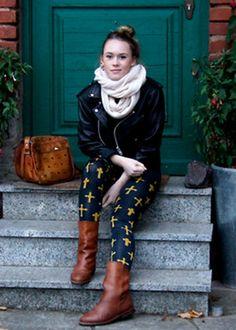 Rosa in UO's ornate cross leggings #urbanoutfitters #BDG