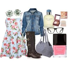 Glamorous Country Chic Outfit, created by #girlinasmalltown on #polyvore. #fashion #style