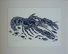 Image result for mackerel lino cut