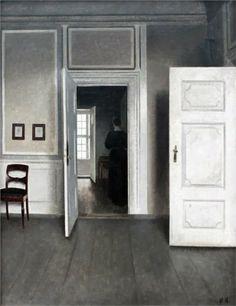 Interior - Vilhelm Hammershoi