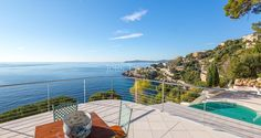 Seafront Californian Villa - Roof Terrace with Terrace, Pool, Garden and Sea View