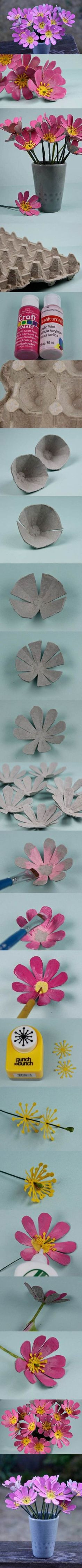 Egg Carton Craft – Butterfly Flowers