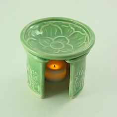 Aromatherapy Diffuser LOTUS Essential Oil Handmade Ceramic Pottery. $19.95, via Etsy.