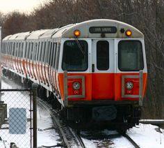 Orange Line in the Snow Metropolitan Line, Underground Tube, Moving To Miami, Third Rail, Metro Subway, Rail Train, Orange Line, Rapid Transit, Bonde