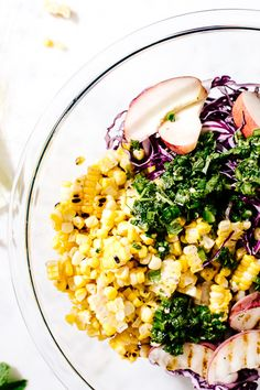 some tips on how to make a really really good salad and a peach and corn coleslaw!