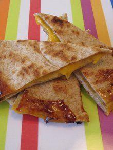Apples Honey & Cheese Quesadilla   Weelicious // make using @Udi's Gluten Free Foods tortillas!