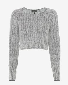 rag & bone EXCLUSIVE Makenna Crop Sweater: The cropped knit pullover has long sleeves with contrast cuffs. Crew neckline. Hits above hips. In light grey.  Fabric: 28% polyamide/19% mohair/19% alpaca/19% wool/12% viscose/3% cashmere Made in China. Model Measurements: Height 5'10; Waist 25 ; Bust ...
