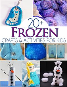20+ Frozen Crafts & Activities For Kids - Includes Olaf Footprint Ornament and more!
