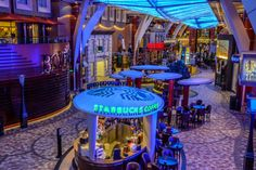 Stroll the Royal Promenade on Oasis of the Seas.