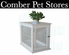 Quality Solid Wood Indoor Kennel Cage Crate Medium / Small Dogs White / Natural