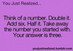 New funny teenager posts mind blown weird ideas - - Jokes And Riddles, Math Jokes, Funny Riddles With Answers, Impossible Riddles With Answers, Number Riddles, Mind Riddles, Tricky Riddles, Funny Math, Challenges