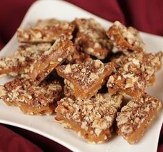 This recipe was given to me by a co-worker. She brings it in every year, and it's some of the best toffee I have ever had!