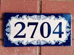 Medida azulejo número de casa pintadas por CarmenAberasturi en Etsy