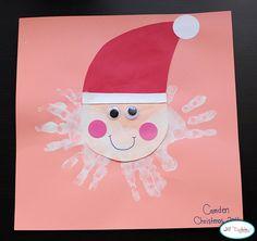 Hand-print Santa.