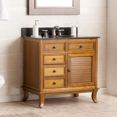 "Waggoner 33.5"" Single Bathroom Vanity Set with Granite Top"