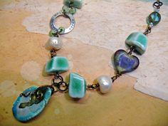 California Dreamin'   OOAK artisan necklace. by PreciousViolet, £19.50