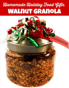 Homemade Holiday Food Gift - Walnut Granola