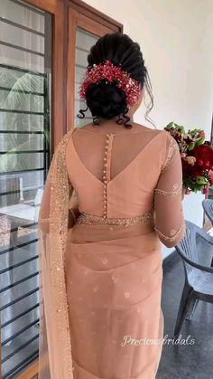 Half Saree Designs, Fancy Blouse Designs, Bridal Blouse Designs, Blouse Neck Designs, Party Wear Indian Dresses, Indian Fashion Dresses, Indian Wedding Outfits, Saree Wearing Styles, Blouse Designs Catalogue