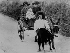 A ride in a donkey cart. by MuseumWales, via Flickr