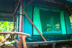 La Leona's tent cabin lateral view  La Leona Ranger Station, Corcovado National Park, Osa Peninsula, Costa Rica